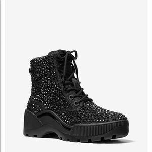 Michael Kors shane jeweled combat boots